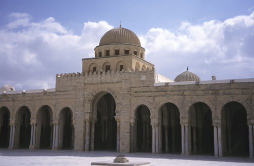 Kairouan, Great Mosque; general view from courtyard.